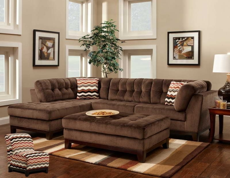 Preferred Brown Sectionals With Chaise Regarding Comfortable Large Sectional Sofas : Furnitures Living Room Elegant (View 9 of 15)