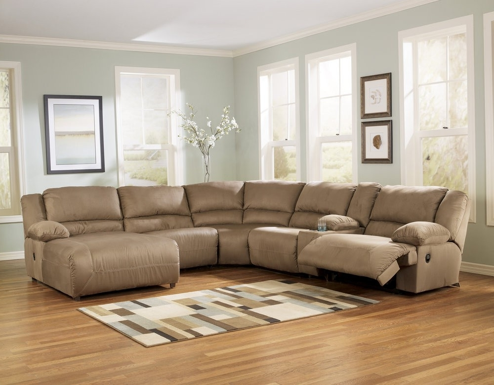 Preferred Brown Sectionals With Chaise With Buy Hogan Mocha 6pc Reclining Sectional Chaisesignature Design (View 14 of 15)
