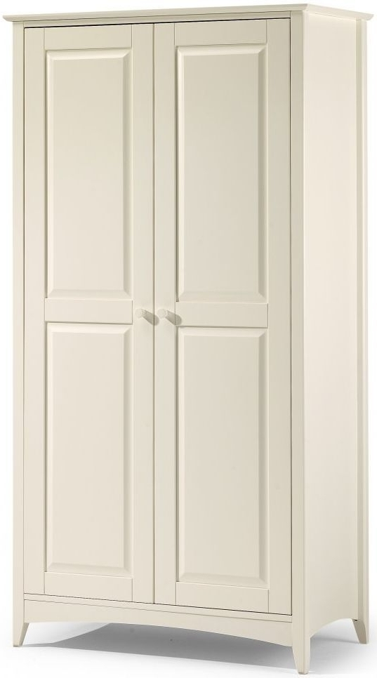 Preferred Cameo 2 Door Wardrobes Regarding Buy Julian Bowen Cameo Off White Wardrobe – 2 Doors Online – Cfs Uk (View 10 of 15)