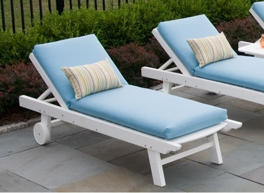 Preferred Chaise Cushions Intended For Seaside Casual Kingston Chaise Lounge Cushion (View 14 of 15)