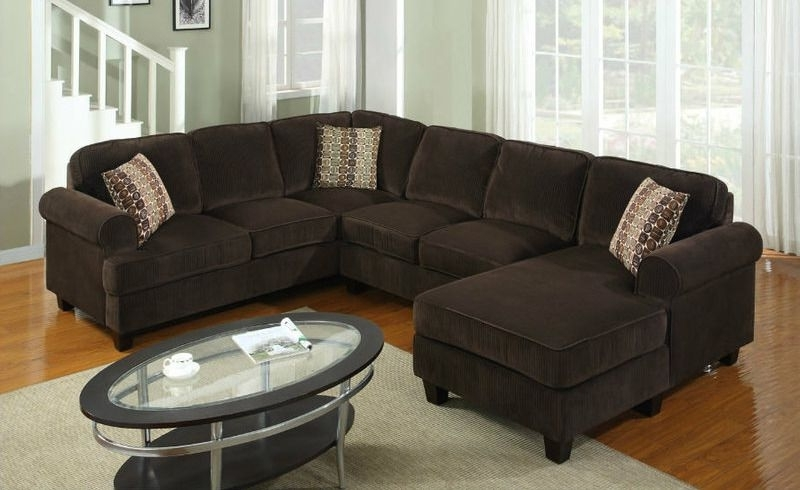 Preferred Chocolate Sectional Sofas Throughout 3pcs (View 7 of 10)