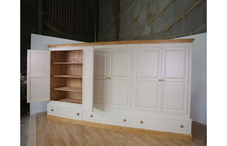 Preferred Farrow & Ball Painted Large 6 Door Wardrobe Full Fitted For Farrow And Ball Painted Wardrobes (View 12 of 15)