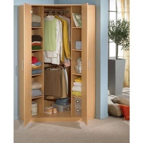 Preferred Gamma Walnut And Black Gloss Corner Mirrored Wardrobe – Walnut With Corner Mirror Wardrobes (View 12 of 15)