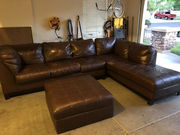 Preferred Gilbert Az Sectional Sofas In Large Brown Leather Sectional Couch (Furniture) In Gilbert, Az (View 8 of 10)
