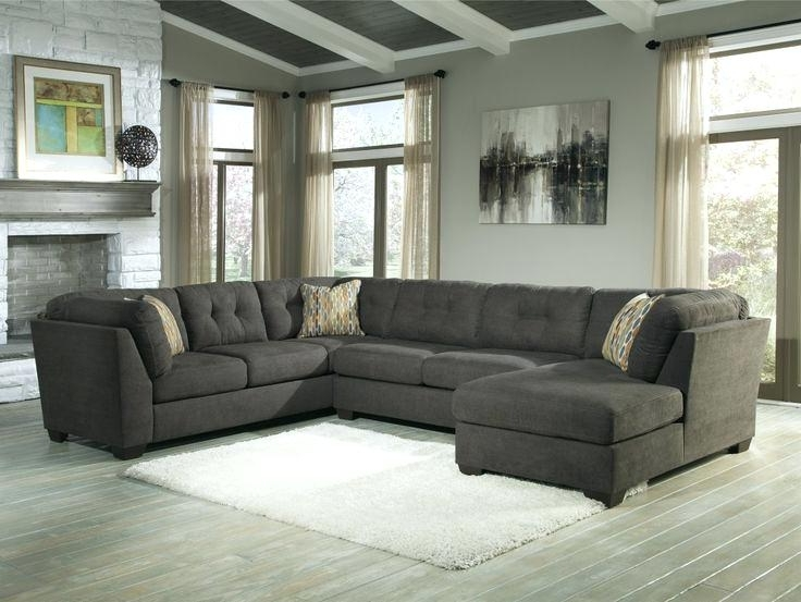 Preferred Grey Sectional Sofa With Chaise – Wojcicki In Tufted Sectional Sofas With Chaise (View 3 of 10)