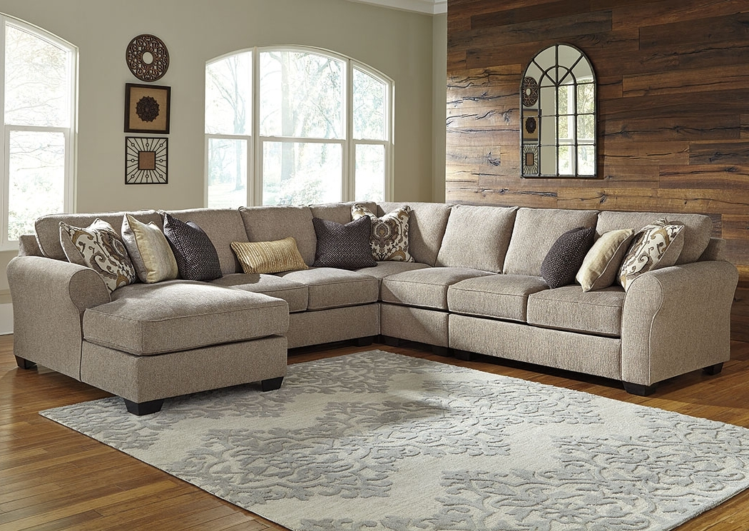 Preferred Kensington Furniture Pantomine Driftwood Extended Sectional W Pertaining To Corner Chaises (View 5 of 15)