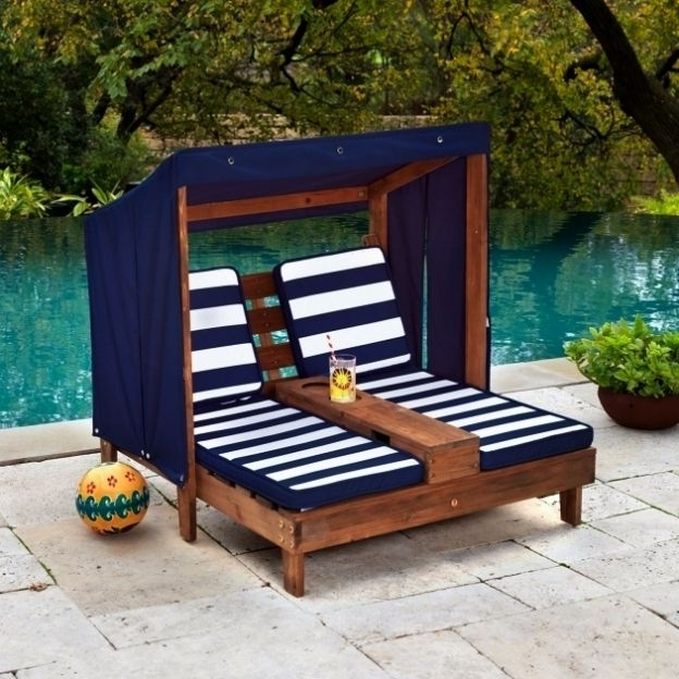 Preferred Kidkraft Chaise Lounge #7 Outdoor Kidkraft Double Chaise Lounge Regarding Kidkraft Double Chaise Lounges (View 13 of 15)