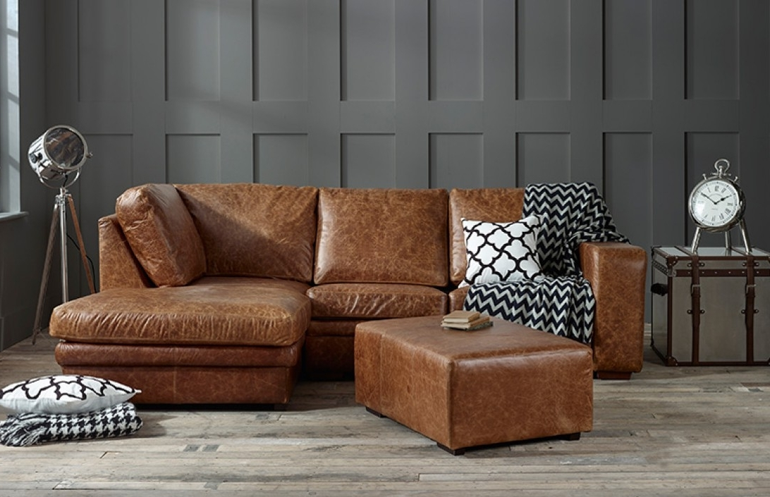 Preferred Leather Chaise Sofas: Handmade From Real, Top Grain & 50+ Colours For Leather Chaise Sofas (View 8 of 15)