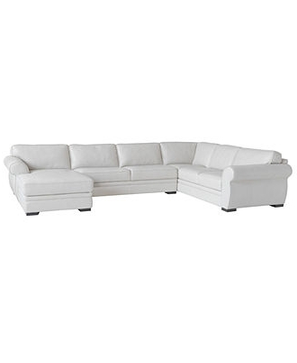 Preferred Macys Leather Sectional Sofas With Carmine Leather Sectional Sofa, 3 Piece (Sofa, Armless Loveseat (View 7 of 10)