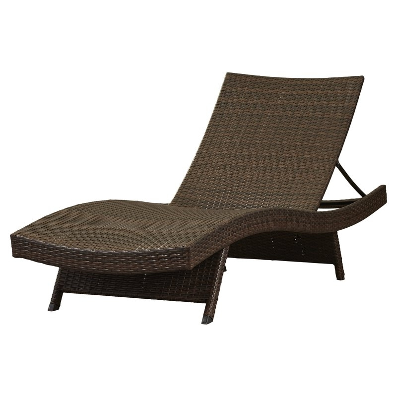 Preferred Mercury Row Athanasius Reclining Adjustable Chaise Lounge With Outdoor Lounge Chaises (View 11 of 15)