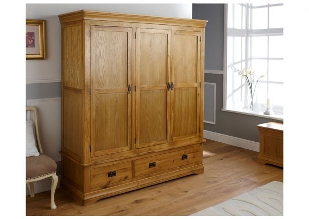 Preferred Oak Wardrobes, Double And Triple In Size Throughout Oak Wardrobes (View 11 of 15)