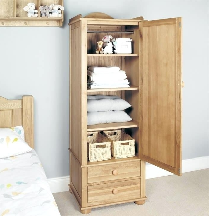 Preferred Oak Wardrobes With Drawers And Shelves Regarding Wardrobe Shelves And Drawers Single Wardrobe Oak Wardrobe With (View 5 of 15)