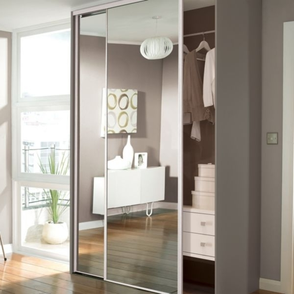 Preferred One Door Mirrored Wardrobes Throughout Sliding Mirror Closet Doors Can Be Applied To Sliding Wardrobe (View 11 of 15)