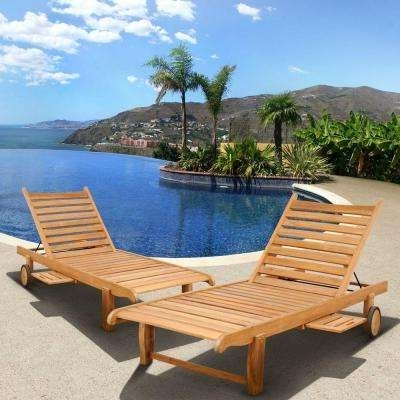 Preferred Outdoor Folding Chaise Lounges Regarding Folding – Outdoor Chaise Lounges – Patio Chairs – The Home Depot (View 12 of 15)