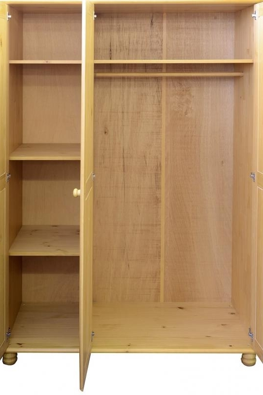 Preferred Pine Wardrobes With Drawers And Shelves Regarding Wardrobes – Budget Interiors Exeter (View 3 of 15)