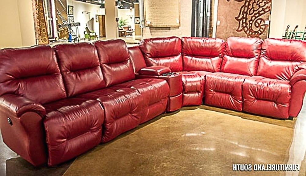 Preferred Red Leather Sectional Sofas With Recliners Regarding Red Leather Sectional Sofa – Icedteafairy (View 9 of 10)