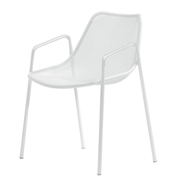 Preferred Set Of 4 Chairs With Armrests Round – Jardinchic Inside Round Chaises (View 11 of 15)