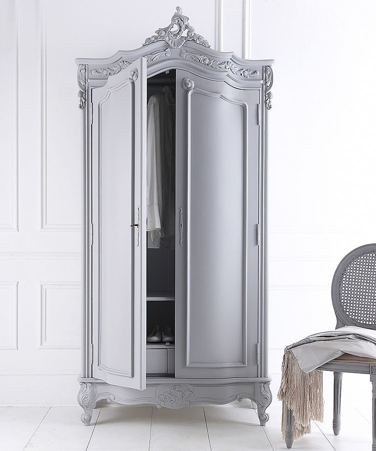 Preferred Silver French Wardrobes For Hand Painted French Armoire (View 5 of 15)