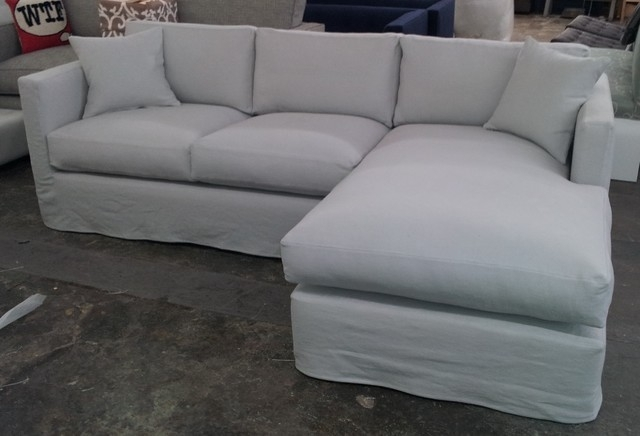Preferred Slipcovered Sofas With Chaise Intended For Slipcover Sectional Couch Contemporary Sofa Slipcovers Cheap (View 7 of 15)