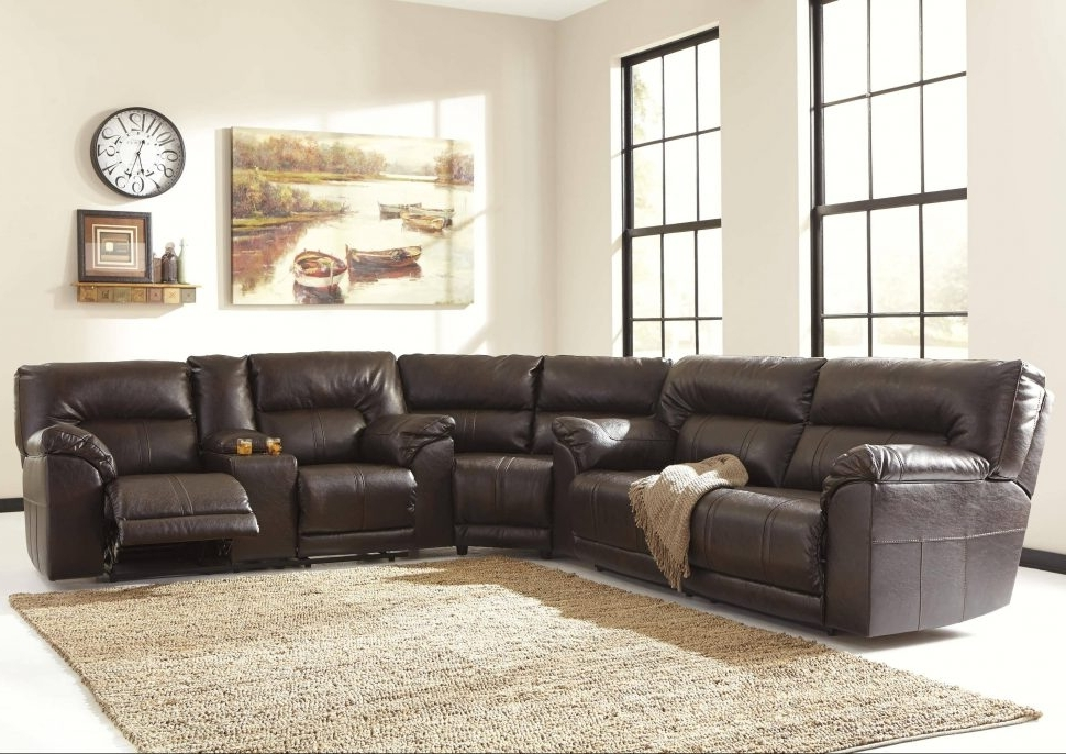 Preferred Sofa : Oversized Sectionals Gray Sectional Leather Sectional Sofa With Regard To Genuine Leather Sectionals With Chaise (View 11 of 15)