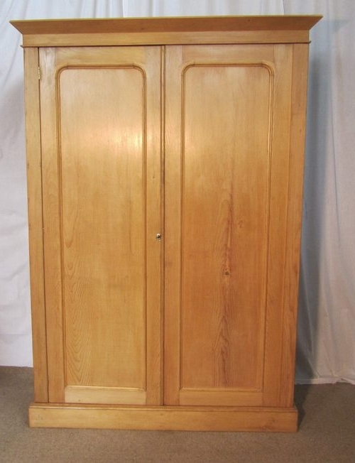 Preferred Victorian Pine Wardrobes Pertaining To Victorian Stripped Pine Wardrobe Compactum – Antiques Atlas (View 11 of 15)