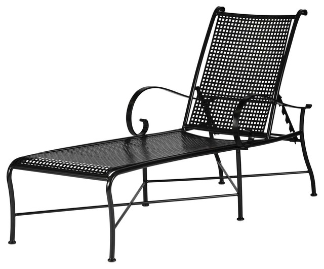 Preferred Wrought Iron Outdoor Lounge Chairs – Green And Gold For Wrought Iron Chaise Lounges (View 9 of 15)