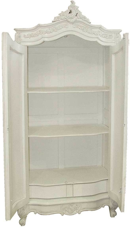 Provencal Classic White French Wardrobe Armoire (View 12 of 15)