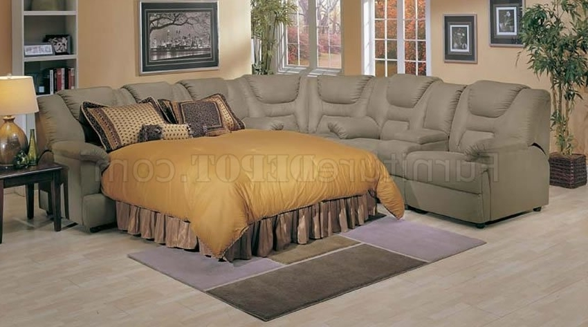Pull Out Beds Sectional Sofas Within Recent 4 5000 Home Theater Sectional Sofa W/pull Out Bedacme (View 7 of 10)