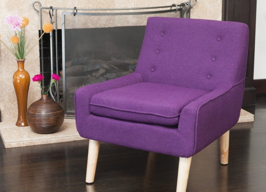 Purple Chaises For Fashionable Retro Accent Chairs Inspirational Brockston Purple Fabric Retro (View 11 of 15)