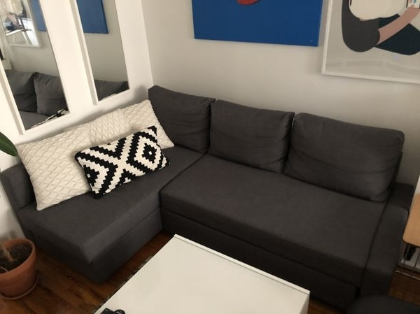 Queens Ny Sectional Sofas Within 2017 Dark Gray Sectional Sofa Bed (Furniture) In Queens, Ny – Offerup (Gallery 8 of 10)