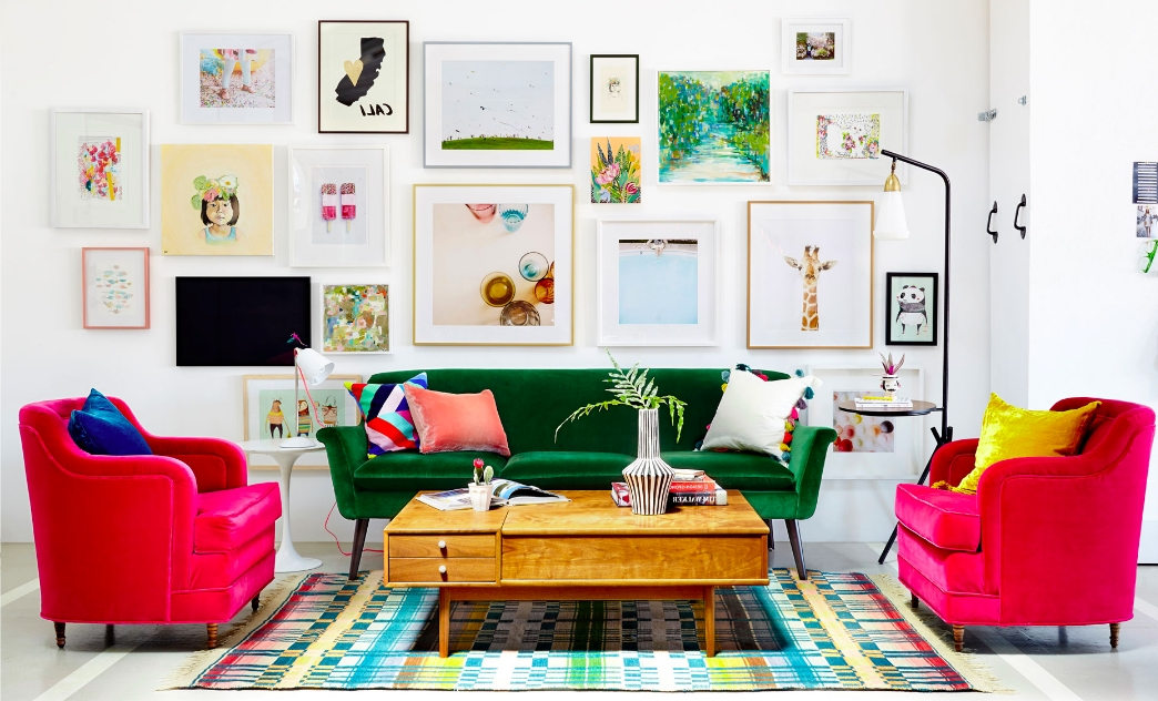 Rainbow Roundup: Colorful Sofas And Loveseats (View 8 of 10)