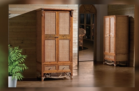 Rattan Wardrobes For Newest Wardrobe (2001/818) – Richwin (View 7 of 15)