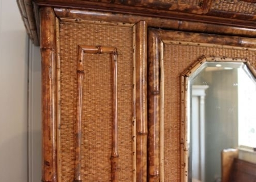 Rattan Wardrobes With Recent Antique Bamboo And Rattan Wardrobe (View 12 of 15)