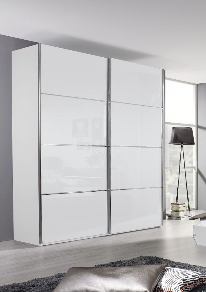 Rauch Cetina High Gloss White Sliding Wardrobe (View 5 of 15)