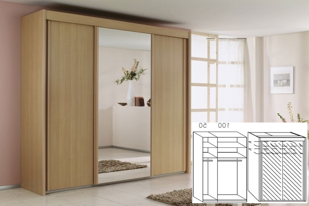 Rauch Imperial Beech 2 Door Sliding Wardrobe W 150Cm H 223Cm With Regard To Most Up To Date Rauch Imperial Wardrobes (View 9 of 15)