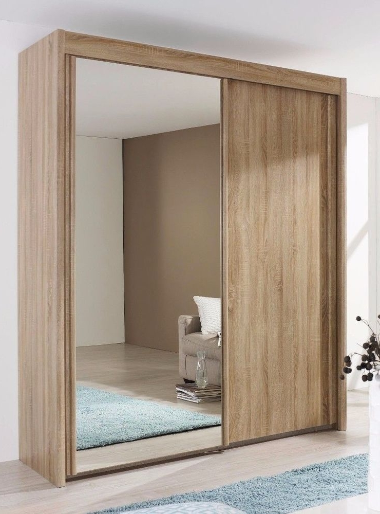 Rauch Imperial Sliding Door Wardrobe 200Cm Wide With Mirror In Intended For Favorite Rauch Imperial Wardrobes (View 11 of 15)