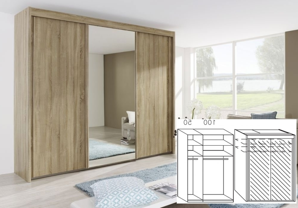 Rauch Imperial Sonoma Oak 2 Door Sliding Wardrobe – W 150Cm H 223Cm For Most Up To Date Rauch Imperial Wardrobes (View 12 of 15)