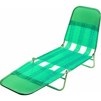 Recent Amazon : Steel Pvc Jelly Folding Chaise Lounge : Patio Lounge Regarding Jelly Chaise Lounge Chairs (View 13 of 15)