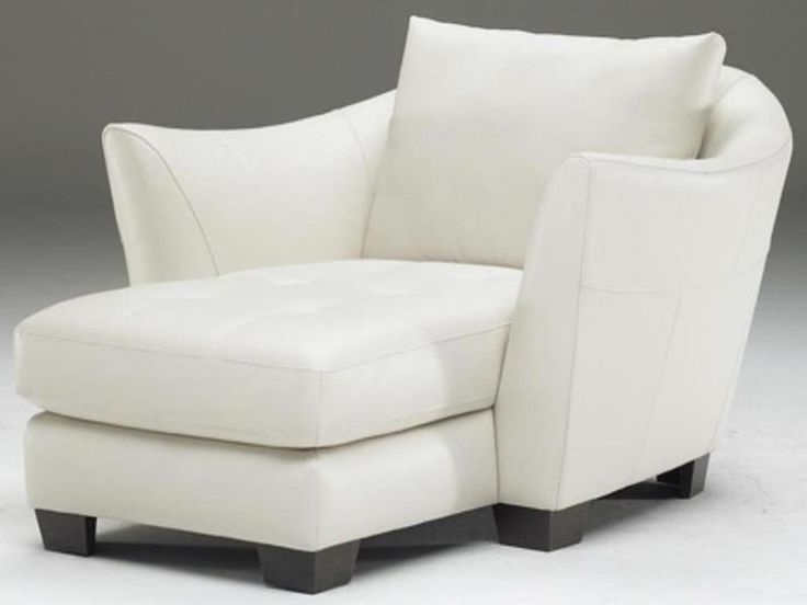 15 Best Collection of White Leather Chaise Lounges