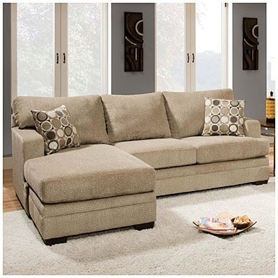 Recent Big Lots Sofas In Simmons® Columbia Stone Sofa With Reversible Chaise At Big Lots (View 6 of 10)