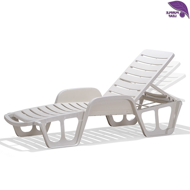 Recent Chaise Lounge Sun Chairs Intended For Purple Leaf Plastic Sun Lounger Beach Chair Portable Parasol (View 13 of 15)