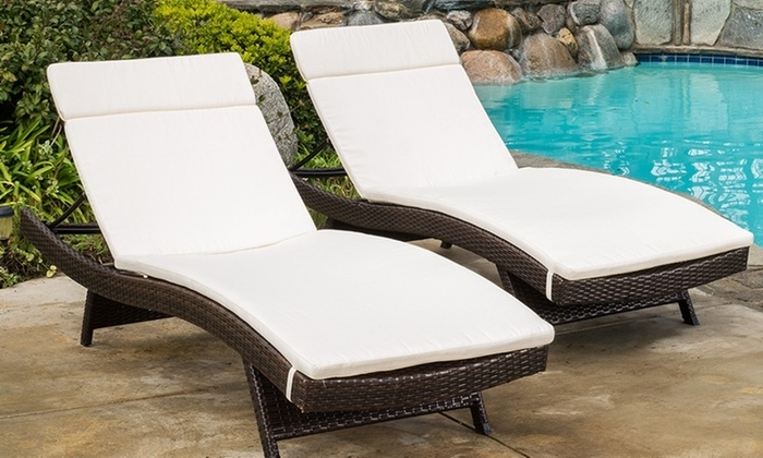 Recent Cushion Pads For Outdoor Chaise Lounge Chairs (2 Pack) (View 14 of 15)