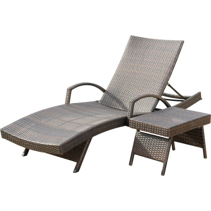 Recent Eliana Outdoor Brown Wicker Chaise Lounge Chairs Throughout Uncategorized : Outdoor Wicker Chaise Lounge In Trendy Chaise (View 12 of 15)
