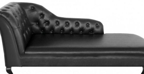 Recent Excellent Metro Pro Chaise Lounge Tufted Black Leather Diamond Within Black Chaise Lounges (View 13 of 15)