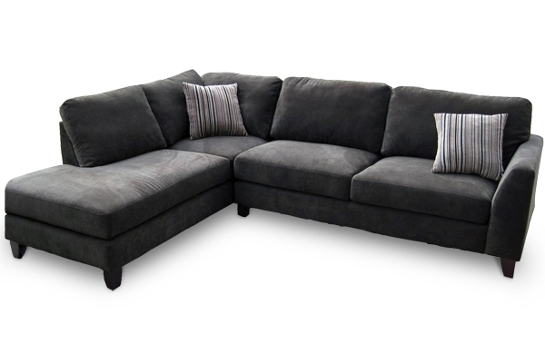 Recent Grey Couches With Chaise In Sofa Beds Design: Inspiring Modern Charcoal Grey Sectional Sofa (View 12 of 15)