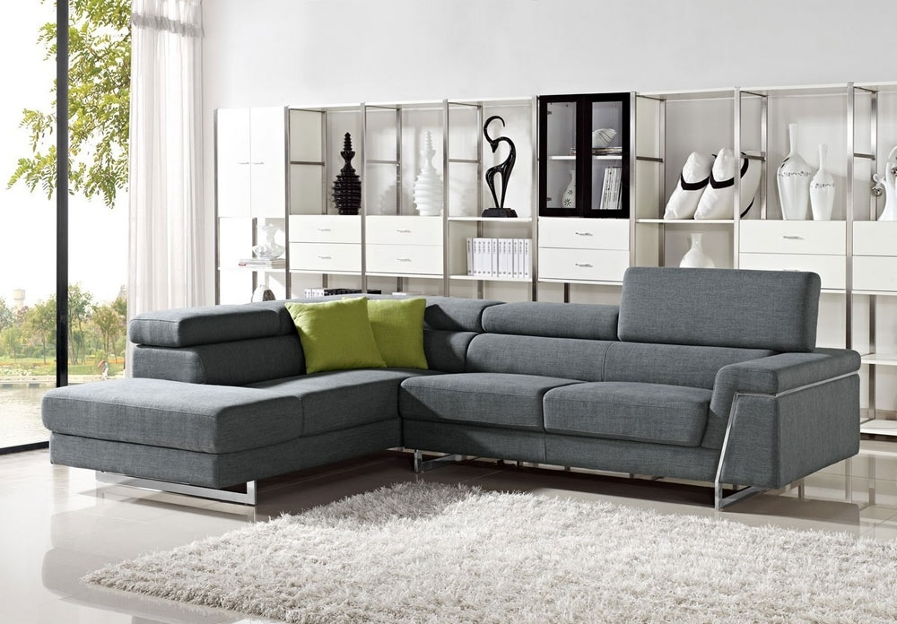 Recent Justine – Modern Fabric Sectional Sofa Set (View 9 of 10)