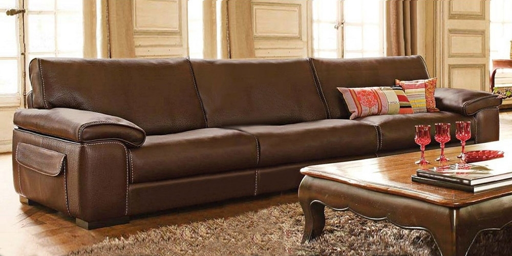Recent Large 4 Seater Sofas Intended For Italian Leather Sofa Monte Carlocalia Maddalena (View 10 of 10)
