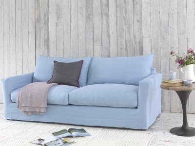 Recent Large Pavilion Sofa In Cloud Blue Vintage Linen With Removable In Sofas With Removable Cover (View 5 of 10)
