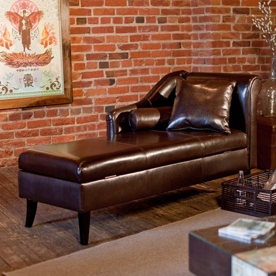 Recent Leather Chaise Lounge With Storage : Best Futons & Chaise Lounges In Chaise Lounges With Storage (View 9 of 15)