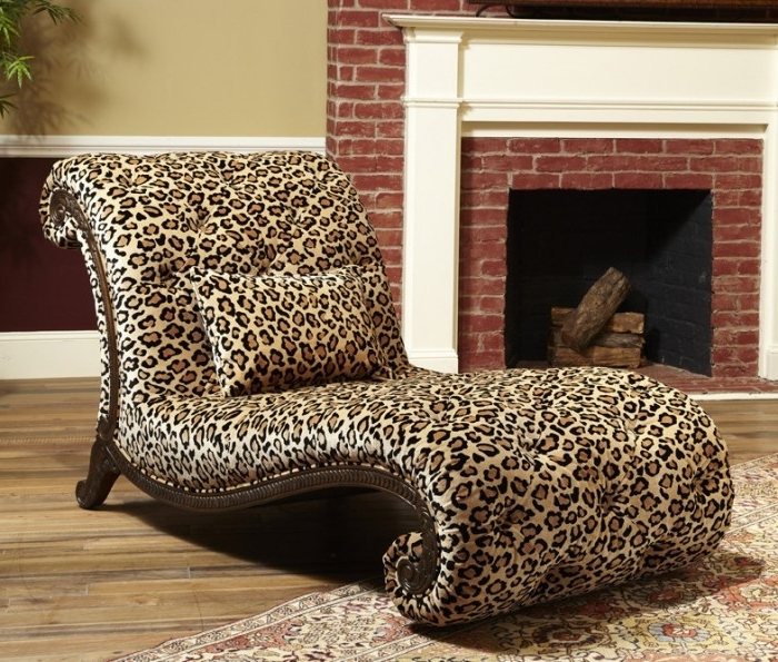 Recent Leopard Print Chaise Lounge ↞•ฟ Regarding Zebra Print Chaise Lounge Chairs (View 8 of 15)
